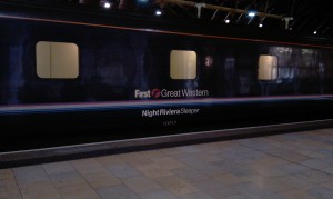 Night sleeper from Penzance at Paddington