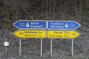 German direction signs